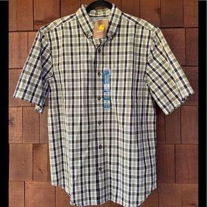 Carhartt men's shirt sleeve plaid medium